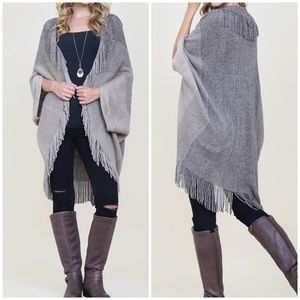 NWT Ribbed Fringe Cardigan - 2 Available Colors